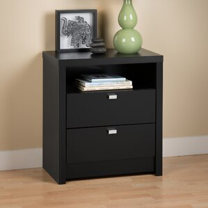 Oleanna 2 Drawer Wood Nightstand by Zipcode Design