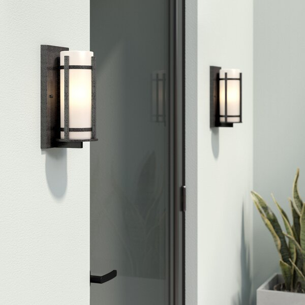 Millbourne 1-Light Outdoor Sconce by Latitude Run