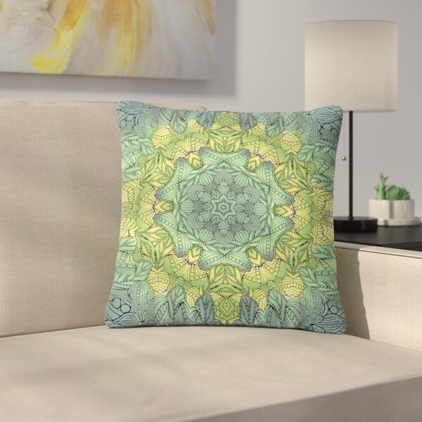 Art Love Passion Fairy Mandala Outdoor Throw Pillow by East Urban Home