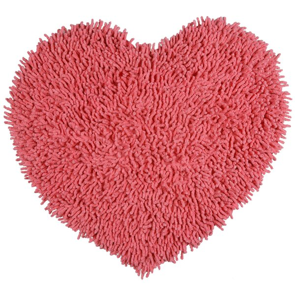 Baugh Shag Chenille Pink Area Rug by Ebern Designs