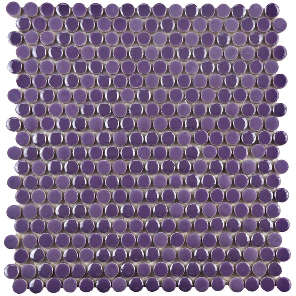 Tucana 0.59 x 0.59 Porcelain Mosaic Tile in Purple by EliteTile