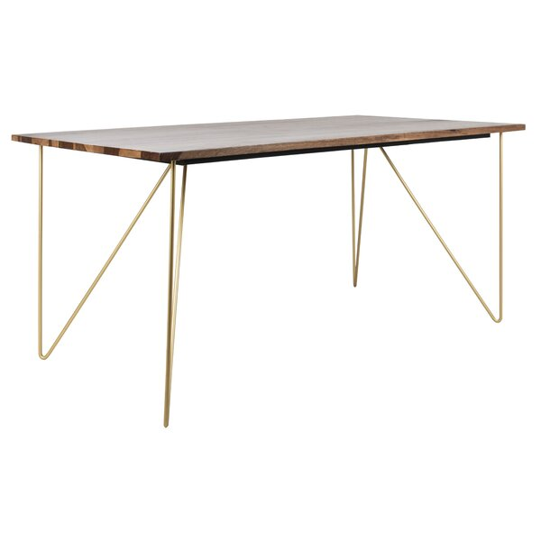 Lissette Solid Wood Dining Table by Wrought Studio