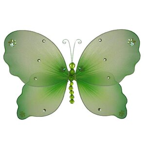 Hansel Butterfly Hanging Organza 3D Wall Decor by Harriet Bee