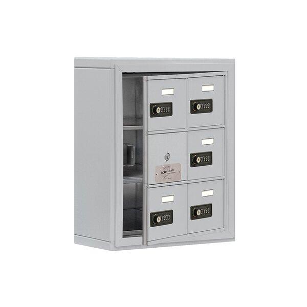 5 Door Cell 3 tier 2 wide Commercial  Locker by Salsbury Industries