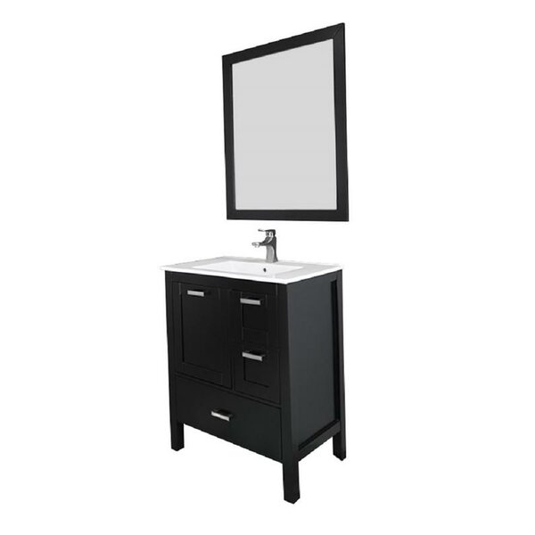 Andre 30 Single Bathroom Vanity Set with Mirror by