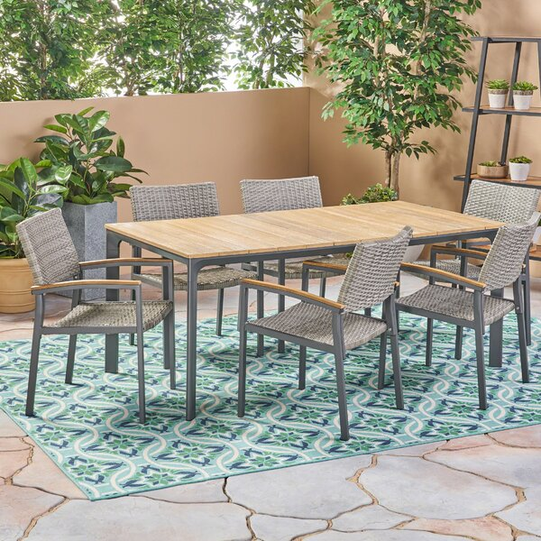 Cortney Outdoor 7 Piece Dining Set by Union Rustic