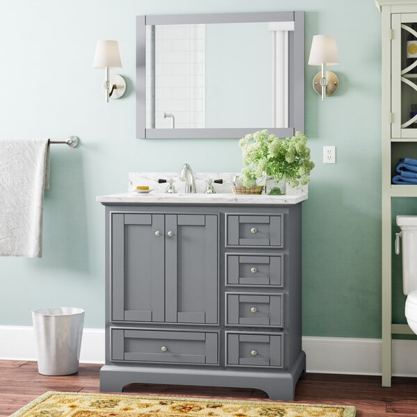 Castellanos 36 Single Bathroom Vanity Set with Mir