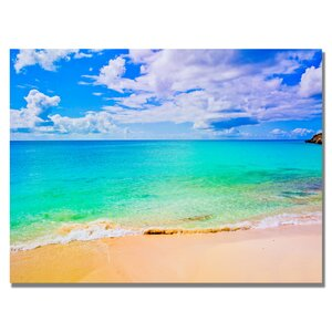 Maho Beach Photographic Print on Wrapped Canvas by Andover Mills