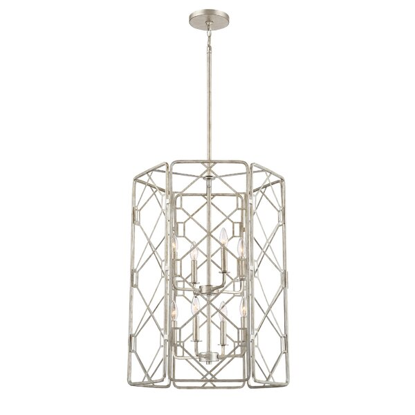 Roshan 8-Light Candle Style Geometric Chandelier by Mercer41 Mercer41