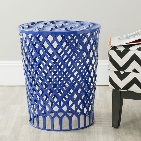 Fox Thor Welded Iron Strips Accent Stool by Safavieh