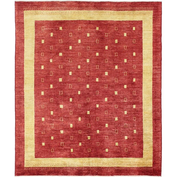 One-of-a-Kind Rejali Hand-Woven Wool Red Area Rug by Red Barrel Studio