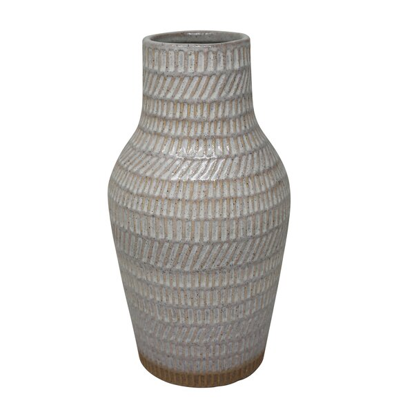 Carlsen Ceramic Tribal Look Table Vase by Union Rustic