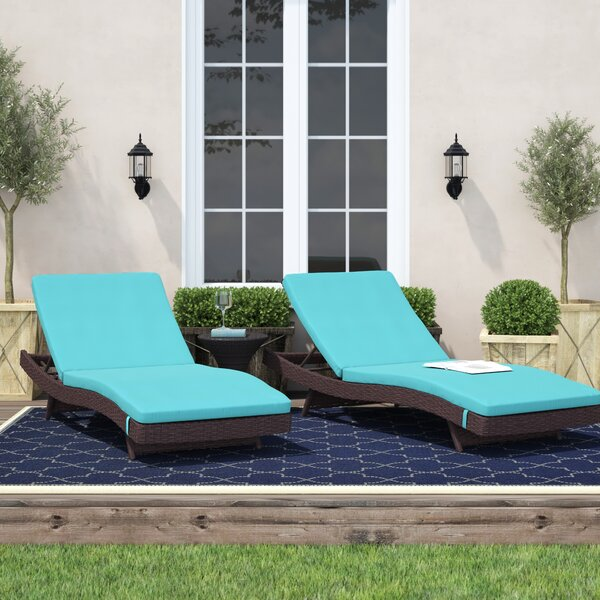 Tegan Sun Lounger Set with Cushion (Set of 2) by Sol 72 Outdoor Sol 72 Outdoor