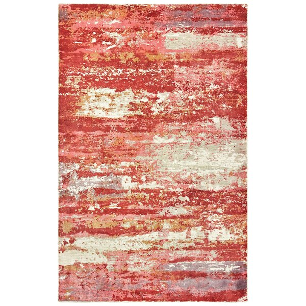 Kirkpatrick Abstract Hand-Knotted Red Area Rug