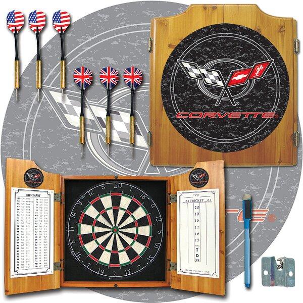 Corvette Dart Cabinet in Medium Wood by Trademark Global