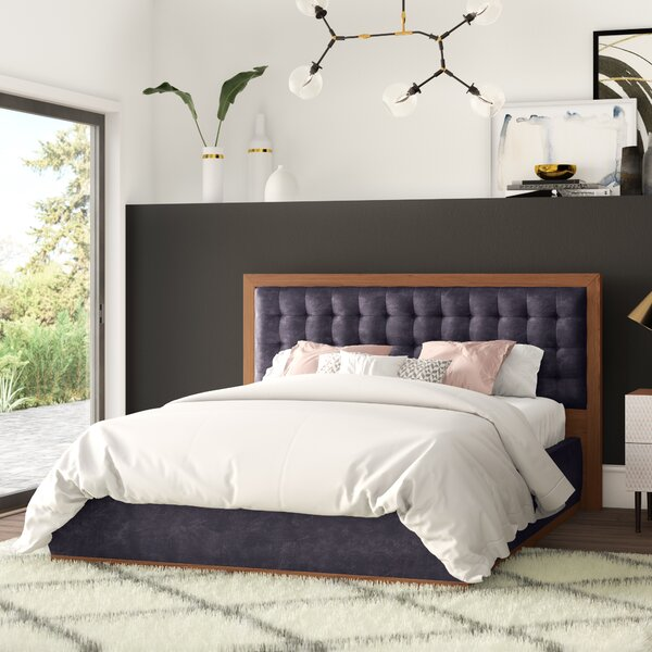 Criss Upholstered Platform Bed by Mercury Row
