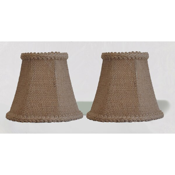 5 Burlap Bell Clip-on Candelabra Shade with Trim (Set of 2) by Bay Isle Home