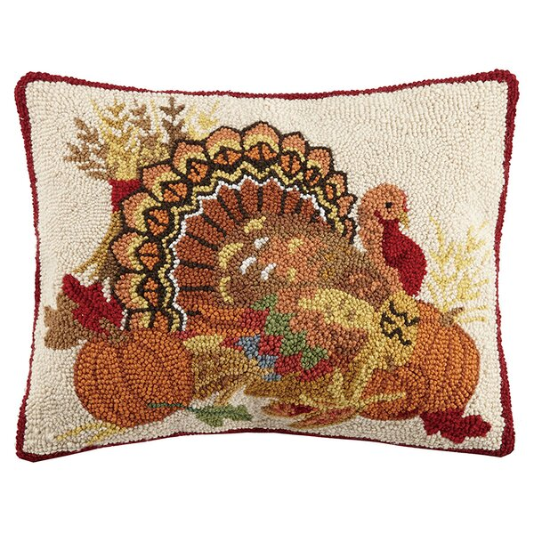 Mcfaddin Give Thanks Wool Throw Pillow by The Holiday Aisle