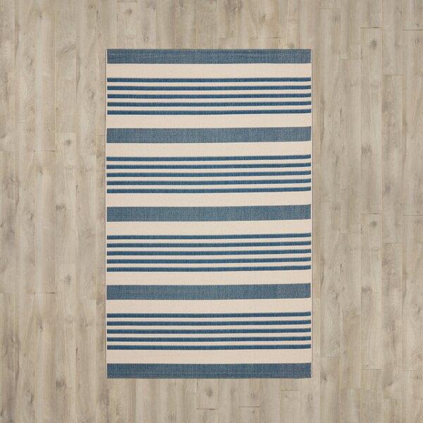 Higgs Blue/Beige Indoor/Outdoor Area Rug by Beachcrest Home