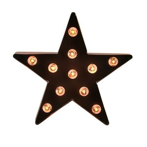 lighted 5 point metal star decorative christmas tree topper - Christmas Tree Tops