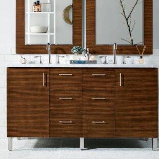 Find a Elbridge 60 Double American Walnut Wood Base Bathroom Vanity Set ByMercury Row