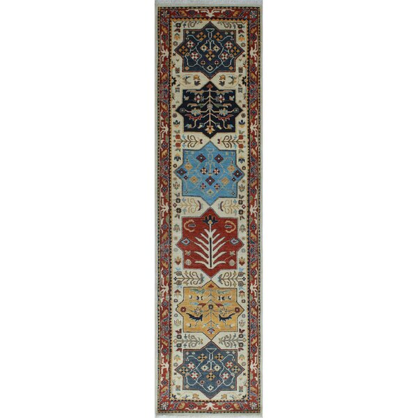 One-of-a-Kind Woodmoor Wazhmah Hand-Knotted Wool Ivory Area Rug by Loon Peak