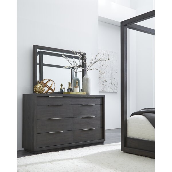 Paralimni 8 Drawer Dresser with Mirror by Wrought Studio