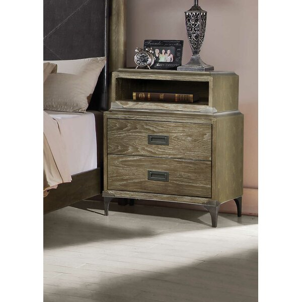 Dietrich 2 Drawer Nightstand by Foundry Select