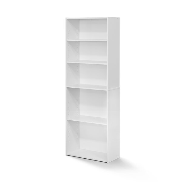Hinshaw 5-Shelf Standard Bookcase by Latitude Run