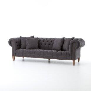 Lilac Deep  Chesterfield Sofa