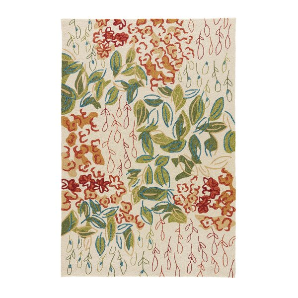 Ivory Hand-Hooked Ivory Indoor/Outdoor Area Rug by The Conestoga Trading Co.