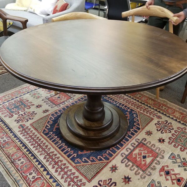 Rosa Solid Wood Dining Table by Bungalow Rose