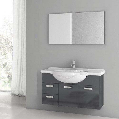 Phinex 41 Single Bathroom Vanity Set with Mirror by ACF Bathroom Vanities