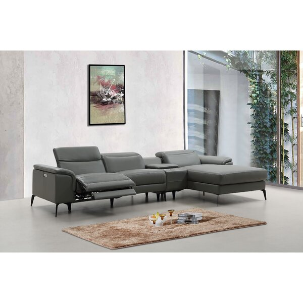 Khinvasara Corner Wedge Leather Reversible Modular Sectional