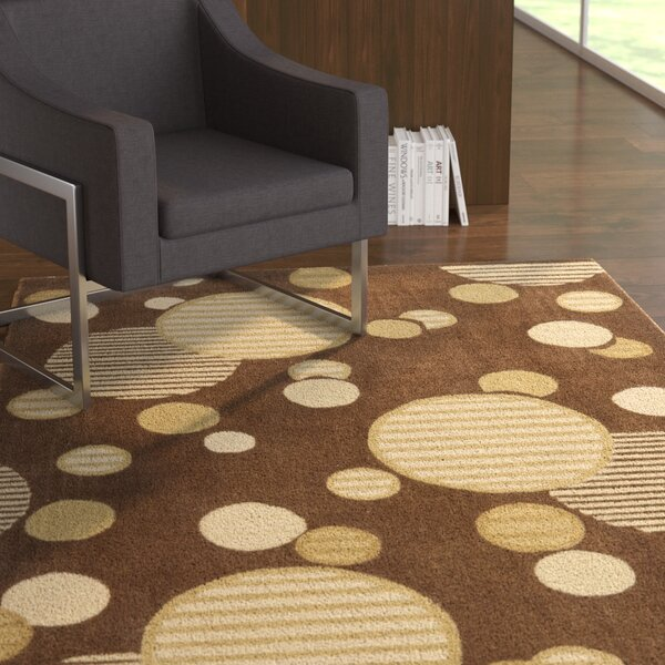 Charlize Hand-Tufted Brown Area Rug by Ebern Designs