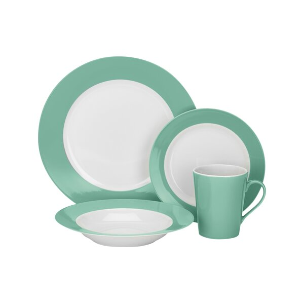 Laurielle 16 Piece Dinnerware Set, Service for 4 by Cuisinart