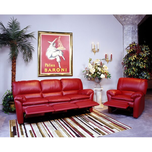 Luxor Reclining Leather Configurable Living Room Set by Omnia Leather
