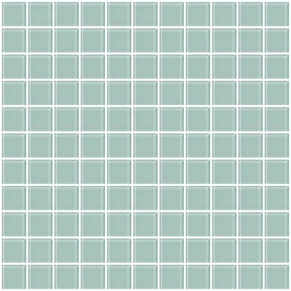 1 x 1 Glass Mosaic Tile in Pale Aqua Blue by Susan Jablon
