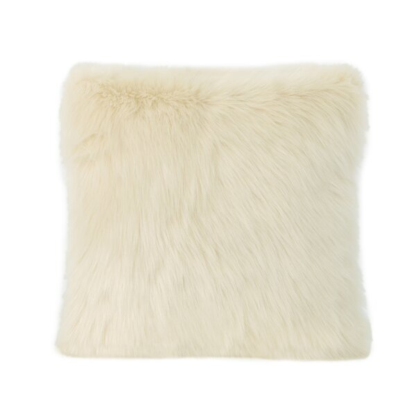 Hamblen Furry Faux Fur Throw Pillow by Greyleigh