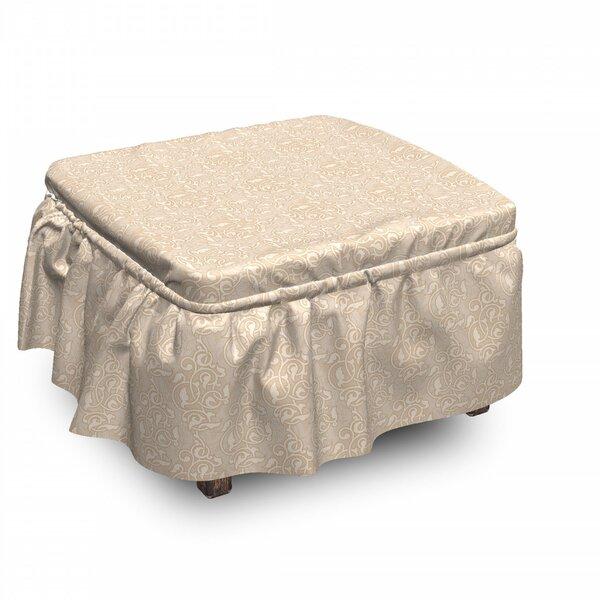 Best Price Box Cushion Ottoman Slipcover