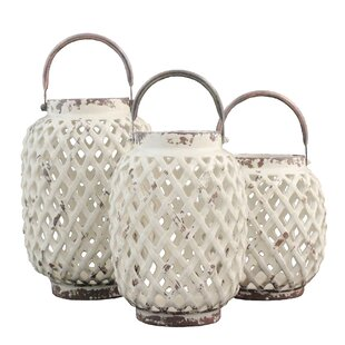 3 Piece Ceramic Lantern Set By Selectives Outdoor Lighting
