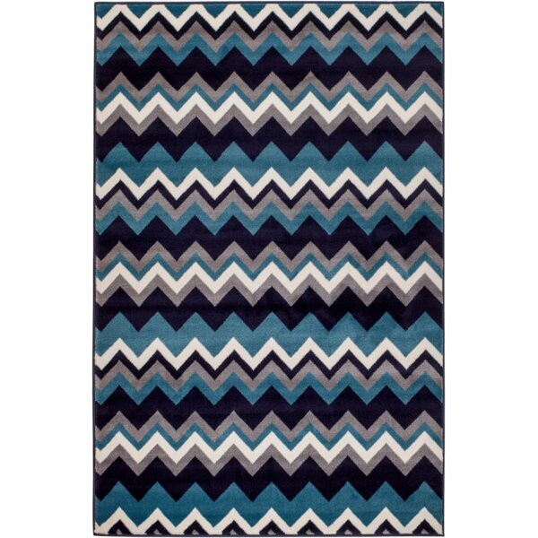 Bernal Navy Blue Area Rug by Ebern Designs