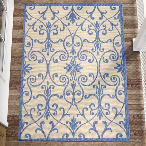 Hoyne Blue Outdoor Area Rug by Charlton Home