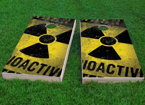 Radioactive and Nuclear Waste Cornhole Game (Set of 2) by Custom Cornhole Boards