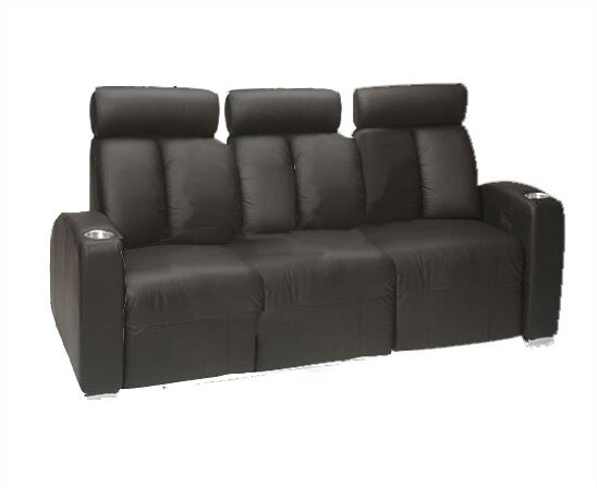 Ambassador Leather Home Theater Row Seating (Row Of 3) By Bass
