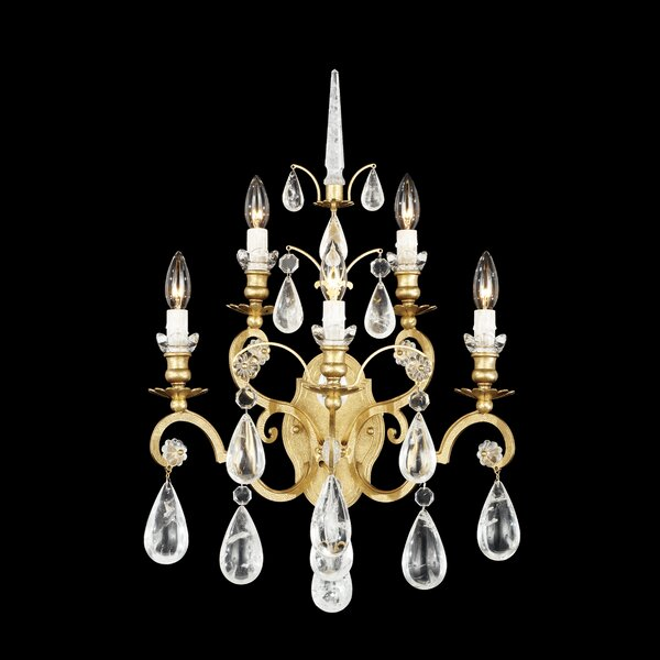 Versailles Rock Crystal 5-Light Candle Wall Light by Schonbek