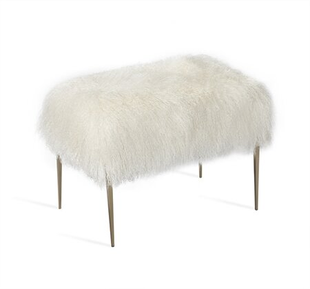 Stiletto Sheepskin Accent Stool by Interlude