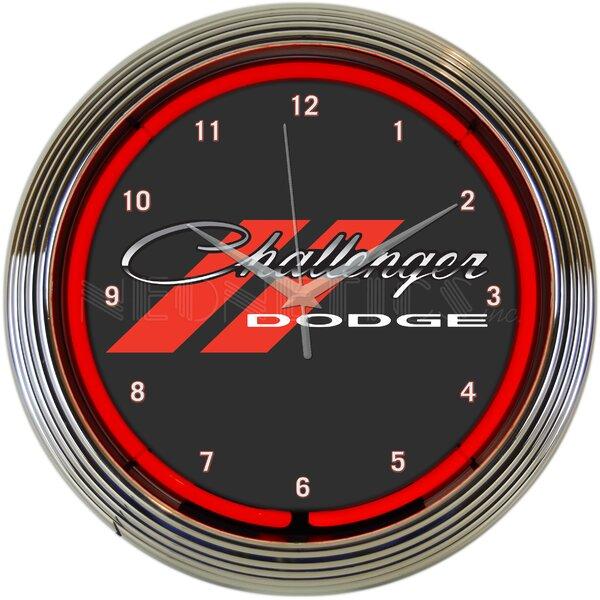 Dodge Challenger Neon 15 Wall Clock by Neonetics