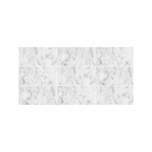 Verona Marble 3 x 6 Marble Field Tile in Bianco Honed by Parvatile