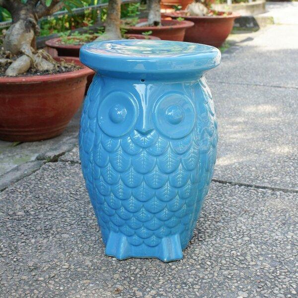 Makhzane Owl Ceramic Garden Stool by Bungalow Rose
